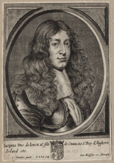 King James II, by Pieter de Jode II, after  Charles Wautier (Wautiers, Woutiers) - NPG D18568