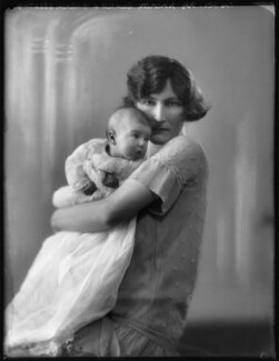 Viscountess Galway and daughter, by Bassano Ltd - NPG x123789