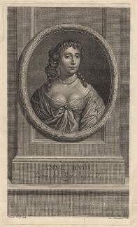 Anne Hyde, Duchess of York, by Charles Louis Simonneau (Simoneau), after  Sir Peter Lely, published 1707 - NPG D18593 - © National Portrait Gallery, London