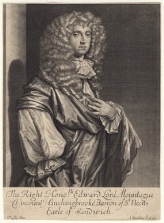 Edward Montagu, 2nd Earl of Sandwich, by Abraham Blooteling (Bloteling), after  Sir Peter Lely - NPG D18605