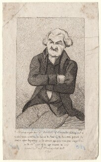 Dr Barrow, by Silvester Harding, or by  Samuel Harding, published by  E. & S. Harding, after  John Nixon - NPG D18608