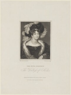 Princess Victoria, Duchess of Kent and Strathearn, by John Cochran, published by  William Sams, after  Fanny Corbaux, published June 1831 - NPG D16074 - © National Portrait Gallery, London