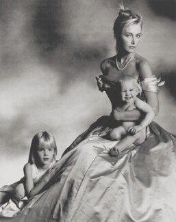 Sophia Swannell; Marianne Lah Swannell; Charlie Swannell, by John Swannell - NPG x87609
