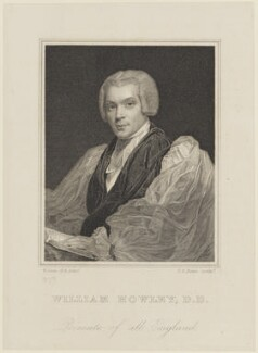 William Howley, by Thomas Anthony Dean, after  William Owen - NPG D16114