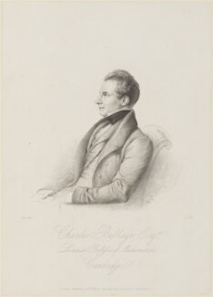 Charles Babbage, by John Linnell, published by  Paul and Dominic Colnaghi & Co - NPG D16124