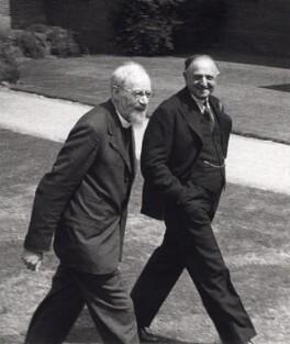 Frank Nathan Daniel Buchman; Burnett Hillman Streeter, by Arthur Strong - NPG x19840
