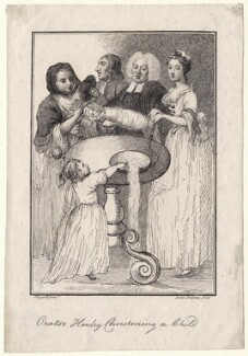 John Henley with five unknown sitters, by Jane Ireland, after  William Hogarth - NPG D18627