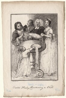 John Henley with five unknown sitters, by Jane Ireland, after  William Hogarth - NPG D18628