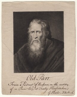 Thomas Parr, by George Powle, after  Sir Peter Paul Rubens - NPG D18614