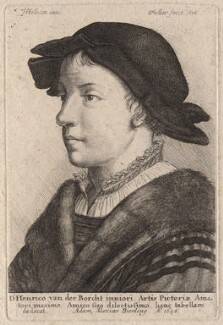 Unknown man (probably Swiss), by Wenceslaus Hollar, after  Hans Holbein the Younger - NPG D18637