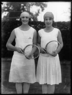 Eileen Vivian Bennett (later Mrs Fearnley-Whittingstall); Cilly Aussem, by Bassano Ltd - NPG x123936