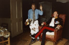 'Painter and Sitter' (Lucian Freud; Andrew Parker Bowles), by David Dawson - NPG x126301