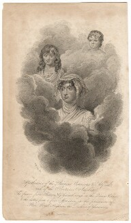 Apotheosis of the Princes Octavius & Alfred, and of the Princess Amelia (Prince Octavius; Princess Amelia; Prince Alfred), by Robert Hicks, after  William Marshall Craig, published 1820 - NPG D16187 - © National Portrait Gallery, London