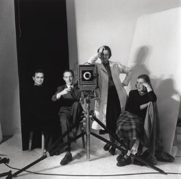 Vogue studio assistants (Roy Walwood; Gordon Bishop; Jane Felstead; Yvonne Rabbets), by Gordon Bishop - NPG x126324