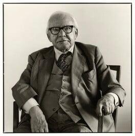 Sir Harold Hobson, by Robert Barber - NPG x29100