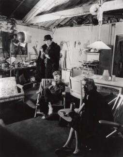 Michael Wickham; Cynthia Blackburn; Sue Bartley, by Gordon Bishop - NPG x126327