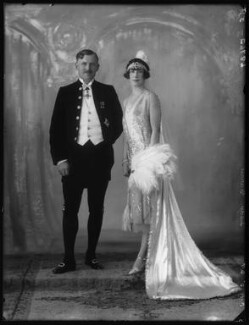 Charles Coupar Barrie, 1st Baron Abertay; Ethel (née Broom), Lady Barrie, by Bassano Ltd - NPG x123965
