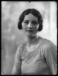 Hon. Pamela Lillias Scott-Plummer (née Balfour), by Bassano Ltd - NPG x123987