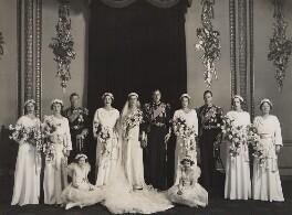 The wedding of Prince George, Duke of Kent and Princess Marina, Duchess of Kent, by Bassano Ltd, 29 November 1934 - NPG x126333 - © National Portrait Gallery, London