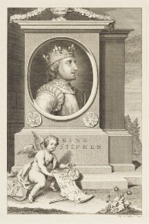 King Stephen, by George Vertue - NPG D18687