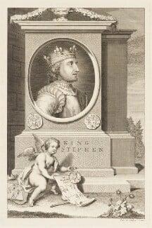 King Stephen, by George Vertue - NPG D18687