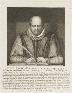 John Stow, by John Thomas Smith, published by  Nathaniel Smith - NPG D18691