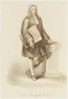 Sir Christopher Wren, by James Godby, published by  Edward Orme, after  Giovanni Battista Cipriani - NPG D18695