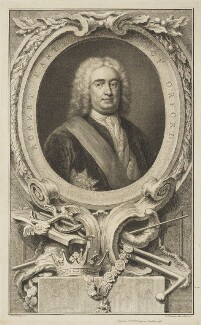 Robert Walpole, 1st Earl of Orford, by Jacobus Houbraken, published by  John & Paul Knapton, after  Arthur Pond - NPG D18696