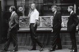 Grenville Davey with three unknown men, by Gautier Deblonde - NPG x87710