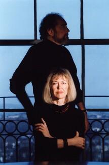 John Bellany; Helen Margaret Bellany (née Percy), by Adam Elder - NPG x76176
