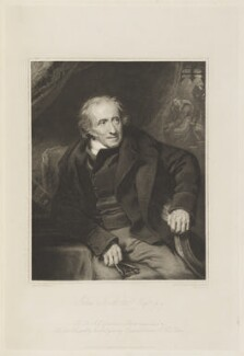 James Northcote, by Frederick Christian Lewis Sr, published by  Hurst, Robinson & Co, after  George Henry Harlow, published 1 June 1824 (circa 1817) - NPG D18762 - © National Portrait Gallery, London