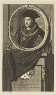 Sir Thomas More, by Pieter Stevens van Gunst, after  Adriaen van der Werff - NPG D18783