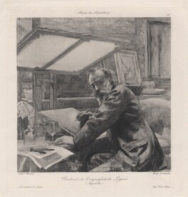 Alphonse Legros, probably by Jules Adolphe Chauvet, after  Paul Albert Besnard - NPG D16214