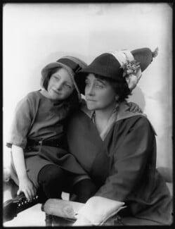 Eva Moore with her daughter Jill Esmond, by Bassano Ltd - NPG x102201