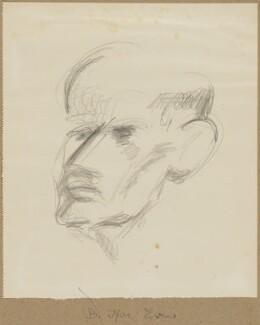 (Benjamin) Ifor Evans, Baron Evans of Hungershall, by Henryk Gotlib - NPG D13569