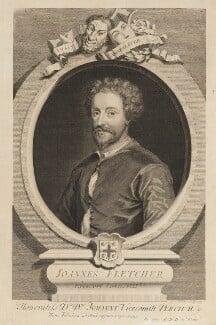 John Fletcher, by George Vertue, engraved 1729 - NPG D18803 - © National Portrait Gallery, London