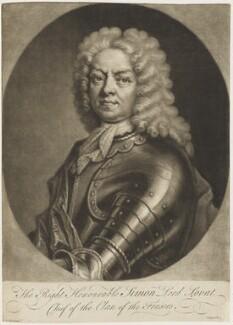 Simon Fraser, 11th Baron Lovat, by John Simon, after  Le Clerc (Clare), circa 1700-1725 - NPG D18810 - © National Portrait Gallery, London