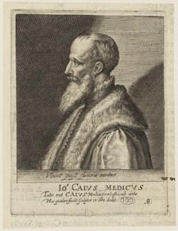 John Caius, by Magdalena de Passe, by  Willem de Passe - NPG D18812