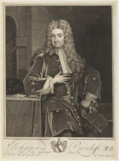 John Radcliffe, by George Vertue, after  Sir Godfrey Kneller, Bt - NPG D18822