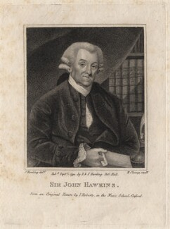 Sir John Hawkins, by R. Clamp, published by  E. & S. Harding, after  Silvester Harding, after  James Roberts - NPG D16219