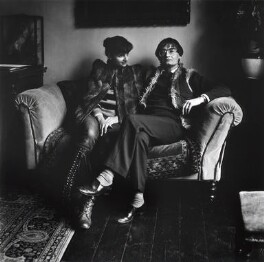 Lisa Gioconda St Aubin de Teran; George Mann MacBeth, by Stephen Hyde - NPG x76329