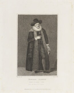 Edward Alleyn, by Thomas Nugent, published by  Edward Evans, after  Silvester Harding, after  Unknown artist - NPG D18839