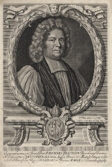 John Tillotson, by Peter Vanderbank (Vandrebanc), by  Robert White, after  Mary Beale - NPG D16230