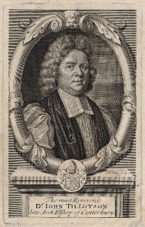 John Tillotson, by Robert White, after  Mary Beale - NPG D16227