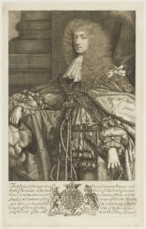 Henry Somerset, 1st Duke of Beaufort, by Robert White, after  Sir Godfrey Kneller, Bt - NPG D18843