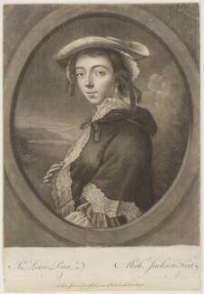 Peg Woffington, by and published by Michael Jackson, after  John Lewis, (1753) - NPG D18852 - © National Portrait Gallery, London
