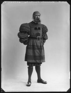 Leicester Tunks as Sergeant Meryll in 'The Yeomen of the Guard', by Bassano Ltd - NPG x80551