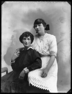 Evelyn Millard with her daughter Ursula Helen Coulter, by Bassano Ltd - NPG x102366