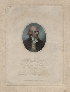 George Rose, by John Samuel Agar, published by  Colnaghi & Co, after  Richard Cosway - NPG D16256