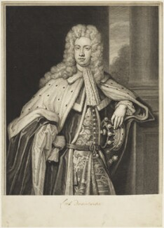 James Radclyffe, 3rd Earl of Derwentwater, by and published by George Vertue, after  Sir Godfrey Kneller, Bt - NPG D18879